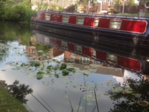 Narrowboat on Canal at Bentley Bridge