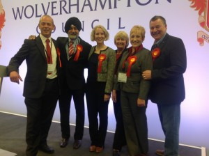 IMG_5747 Triumphant Emma Reynolds MP with Wednesfield Councillors 2015