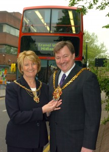 COPYRIGHT EXPRESS & STAR  ALAN EVANS 16/04/05  STORY WITH BARRY The new Mayor of Wolverhampton Phil Bateman with his wife lady Mayoress Mary Bateman. HOLD UNTILL THURSDAY.....