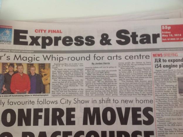 Express and Star newspaper header