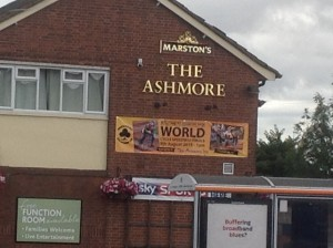 The Ashmore Inn with World Cycle Speedway support!
