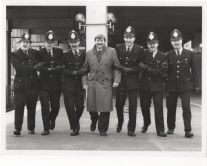 During happier times when there were more police officers, protecting public transport & our community.