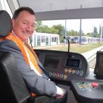 Driving a tram Phil Bateman