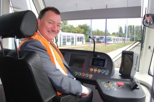 Driving a tram Phil Bateman