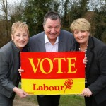 L- R Councillor Rita Potter - Phil Bateman MP and  Mary Bateman MP, Labour. Picture by Shaun Fellows / Shine Pix