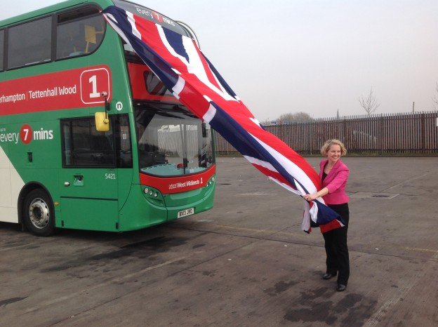photo Emma Reynolds MP Unveils bus!