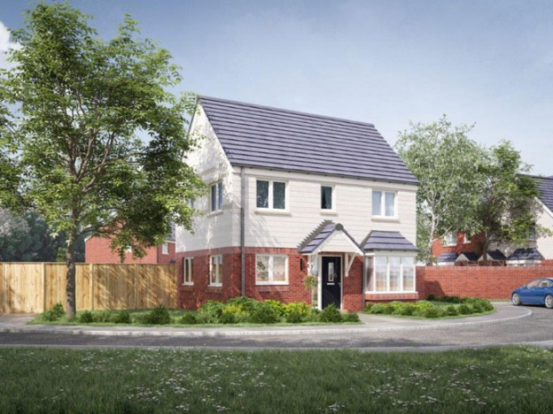 """""""One of he homes currently being constructed in Ashmore Park, on the former Danesmore site"""""""