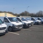 """The fleet of Vehicles now  providing the Food Distribution Hub with the logistics required to deliver to the door"""""""