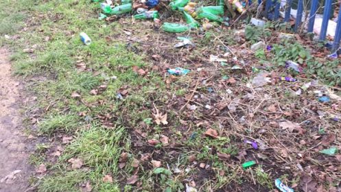 Anger at Drinkers- Who use the Local Nature Reserve for Dump!